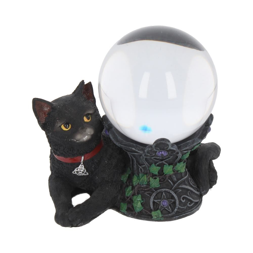 Cat Stand with 8cm Crystal Ball