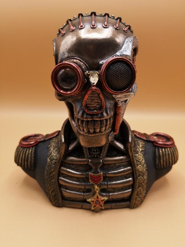 Steampunk Skull Bust