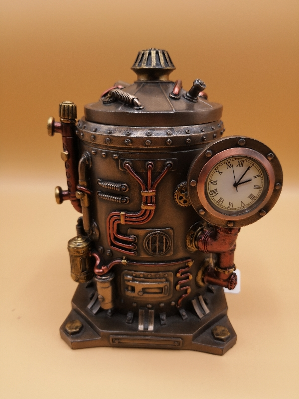 Steampunk Trinket Box with clock detail