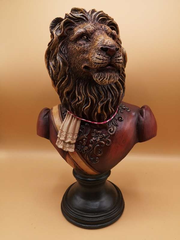 Lion Bust in Military Uniform